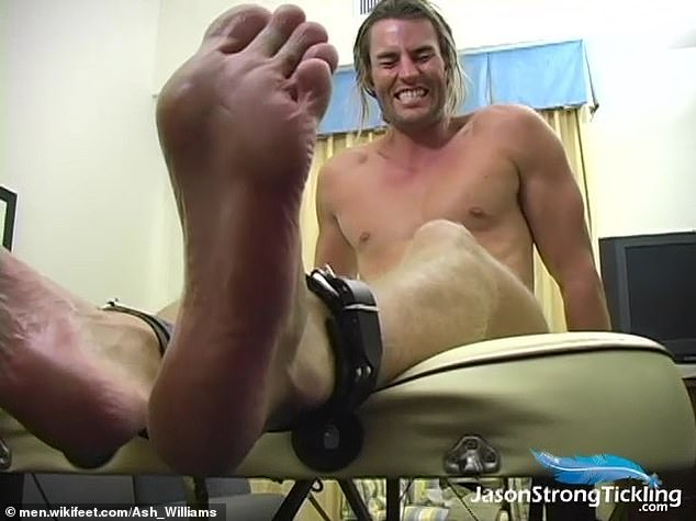 Ticklish?Also available on WikiFeet are screen shots from the 2012 'tickling video' that Ash starred in