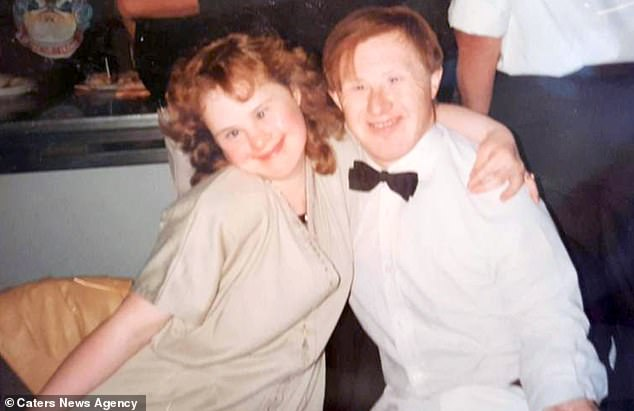 Tommy Pilling, 62, from Southend-on-Sea, Essex, lost his battle to coronavirus on January 1, leaving behind his doting wife Maryanne, 49 (pictured together when they were young)