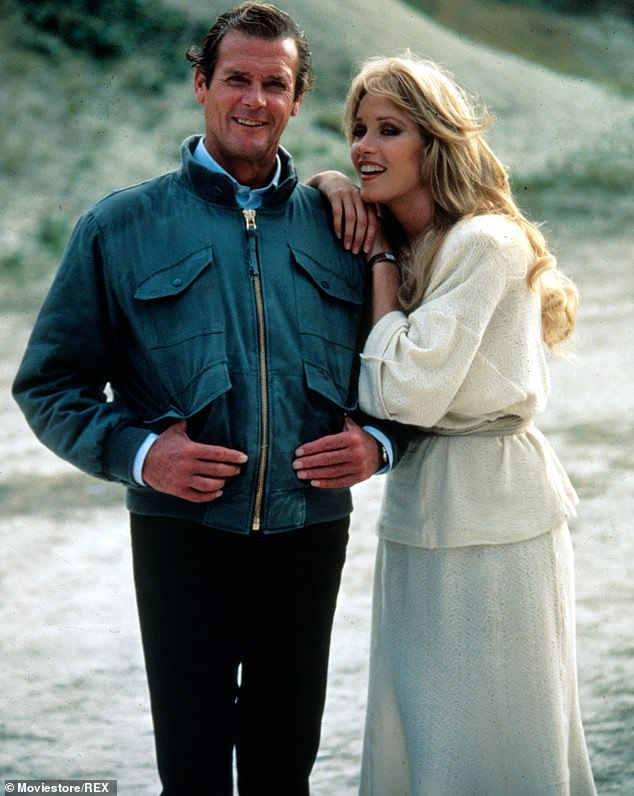 A natural union: Though Moore was much older than Roberts when they filmed 1985's A View To Kill, they seemed to click