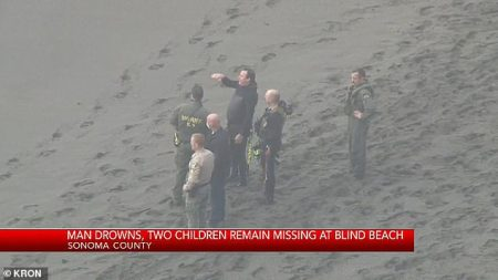 Father Drowns While Trying to Save his Two Children, Aged 6 and 4, After they Got Swept Away by Huge Waves at California Beach and Remain Missing
