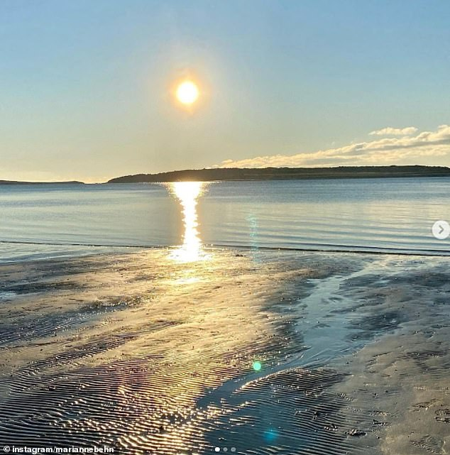Marianne went on to share a picture of the sun setting across a beach as she said it 'is good to embrace the beauty of nature' and 'remember the good times'