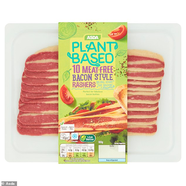 The supermarket's newly launched Vegan Bay already features more than 100 plant-based products. From January 5, shoppers will see the introduction of 'facon' (pictured)