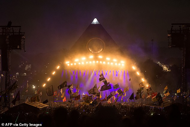 Claims: Looking forward to her schedule for the year, Mel said: 'I know Glastonbury (pictured in 2019) has been cancelled, so a lot of big stage shows are going to be on hold again this year