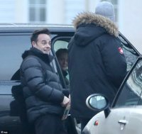 Newly-engaged Ant McPartlin enjoys a stroll with fiancée Anne-Marie Corbett