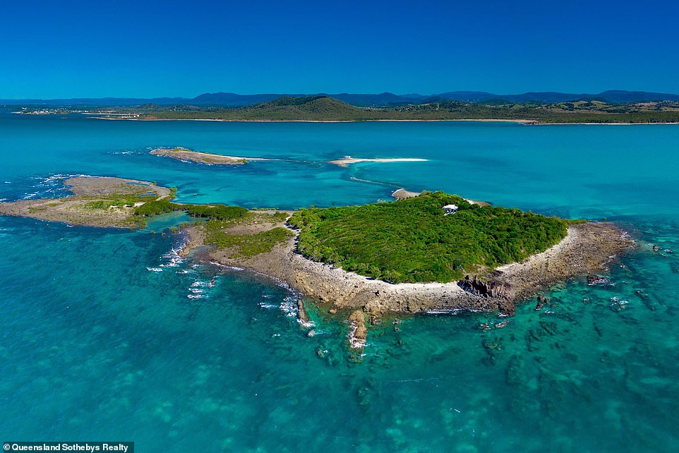 Victor Island (pictured) is located just one kilometre off Queensland's mainland, or a 20-minute boat ride fromHay Point Marina