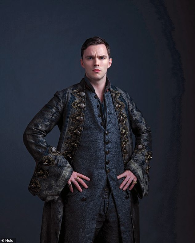 History: The actor, 31, stars as Peter III in the Channel 4 period drama which follows Elle's character, the notorious Russian monarch Catherine The Great