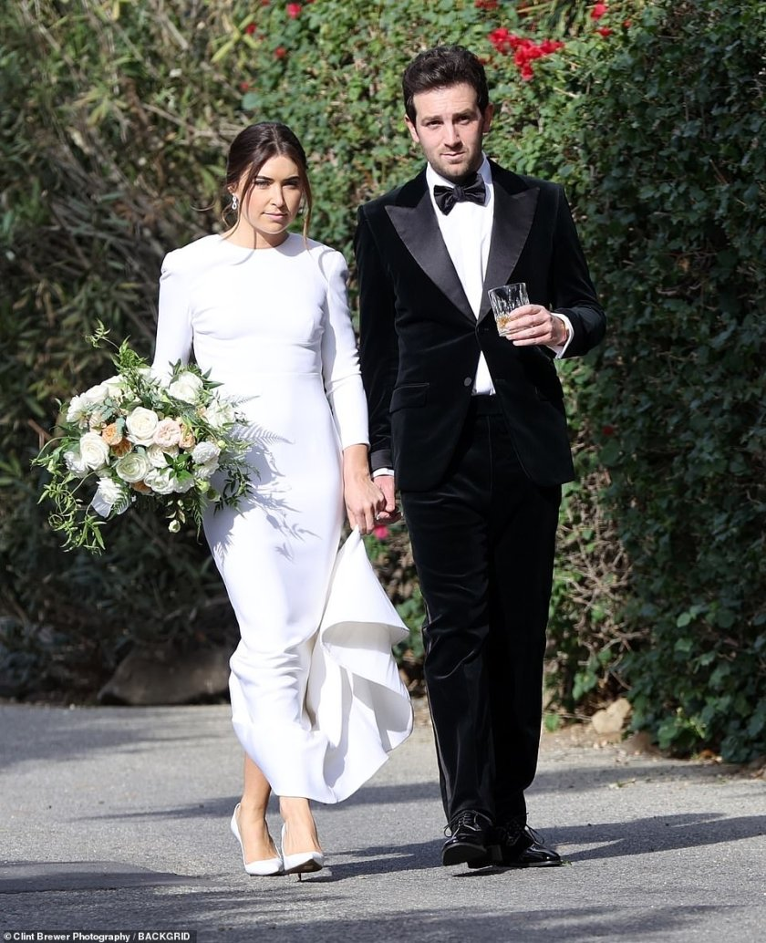 Happy couple: Harry's manager and his love looked stunning as they walked hand-in-hand