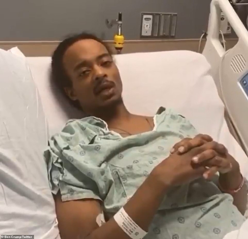Jacob Blake was discharged from hospital in early October 2020where he had been recovering for more than a month after being shot seven times by police during a domestic disturbance call in August