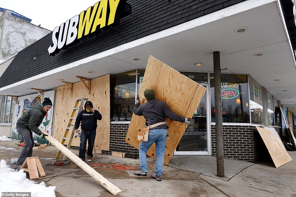 Some businesses boarded up this week ahead of the announcement, bracing for renewed protests in light of the District Attorney's office decision