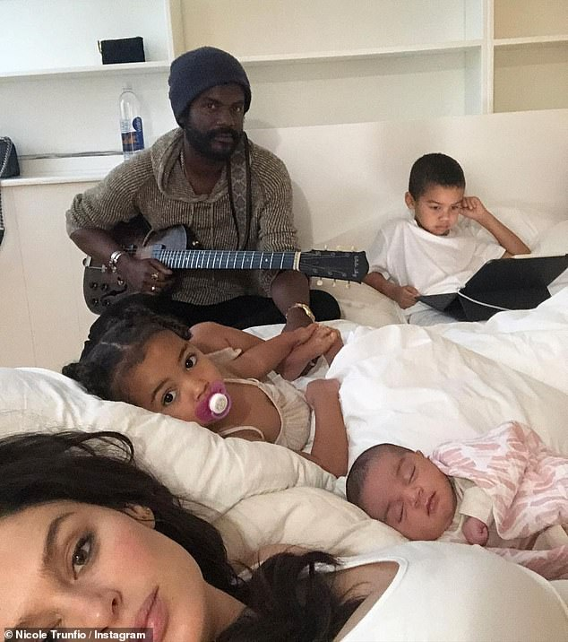 Family: The couple are also parents to son Zion, five, and daughter Gia, two