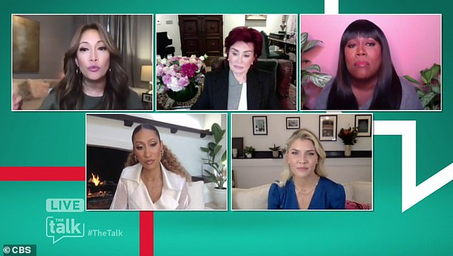 New host:'Me neither, I can't taste or smell,' Inaba added, before revealing that she was thinking about the new host Amanda Klootz (bottom right), who lost her husband Nick Cordero to COVID-19 last summer