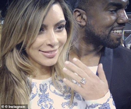 Epic proposal: In October, Kanye made proposal history when he asked Kim for her hand in marriage with a sparkling 15-carat Lorraine Schwartz diamond ring