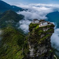 The incredible twin temples perched atop a breathtaking rocky spire; Jennifer Newton; Daily Mail