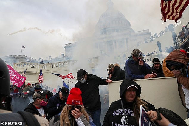 The protesters violently clashed with police in a bid to stop Joe Biden's election victory being certified