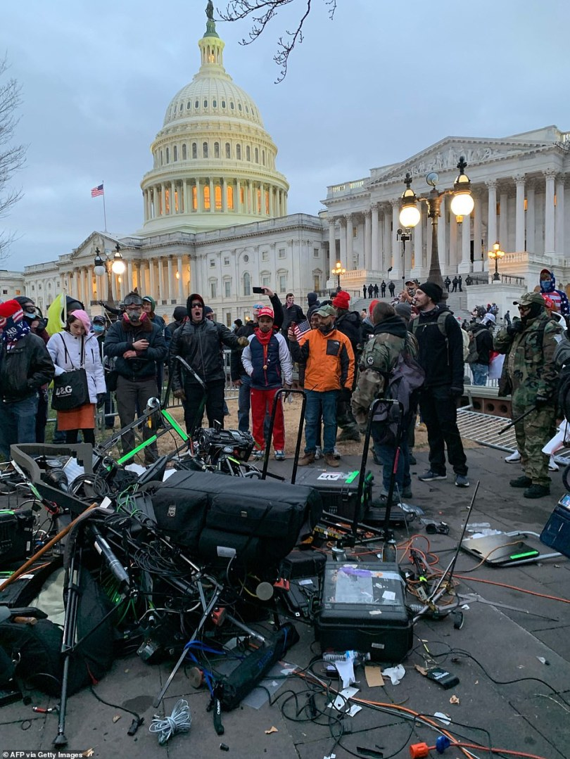 MAGA rioters have turned on the media, destroying television cameras and chasing down news crews trying to report on the carnage at the US Capitol
