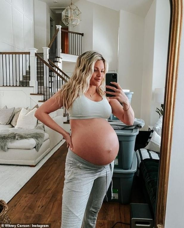 Out of Commission: Longtime pro on the hit ABC show, Carson dropped out of the competition this year after announcing her pregnancy in July;  Picture 1 January