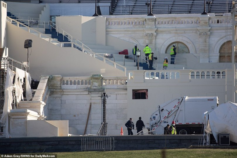 Efforts are now underway to secure the Capitol. Joe Biden will be inaugurated in two weeks