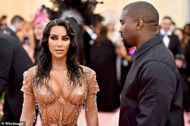 Donezo: The famous family is currently grappling with claims that the West's are divorcing after seven years of marriage, as it was said that Kim is 'done' for good following many tumultuous months; pictured 2019