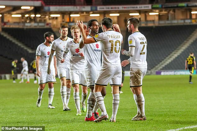 MK Dons will hope to take advantage of any rest and rotation from Burnley boss Sean Dyche