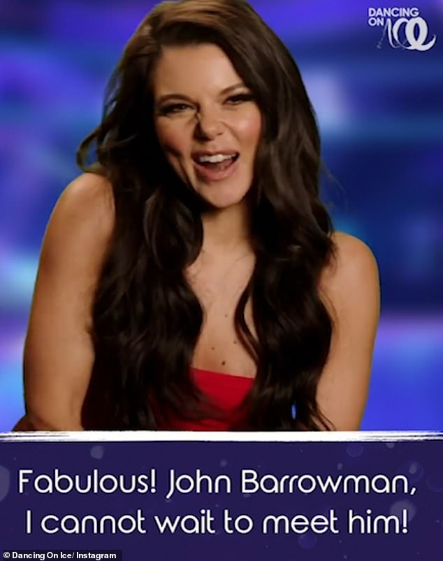 Excited: Former Coronation Street Star Faye Brookes also declared that she couldn't wait to meet singer and actor John Barrowman