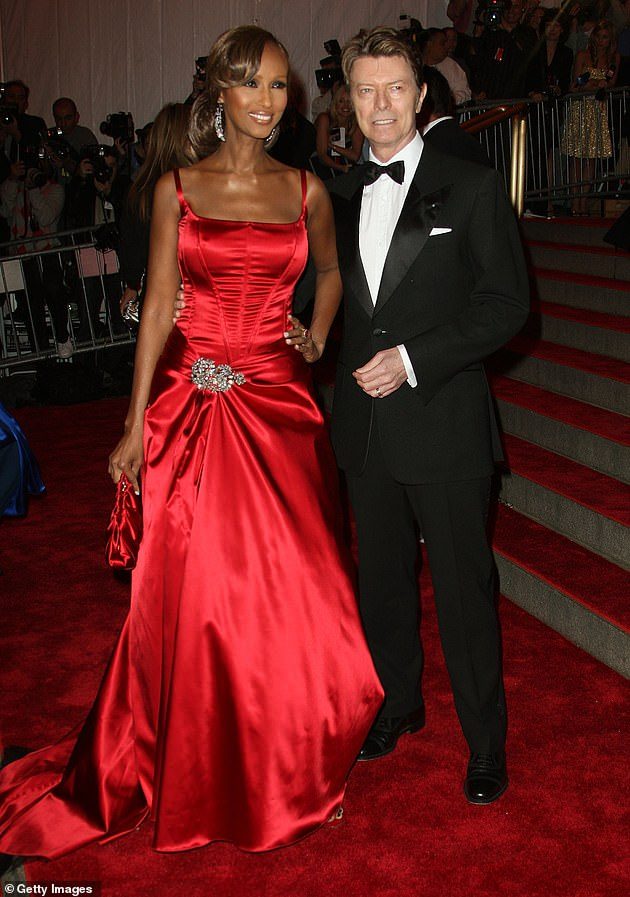 Forever: On Tuesday, Iman insisted she'll never remarry following her late husband's death, and she declared the singer was her 'true love' (pictured in 2008)