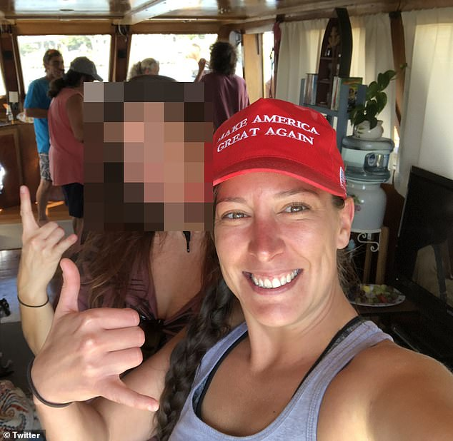 Trump supporter and Air Force vet Ashli Babbitt (pictured) was shot dead by Capitol Hill police in last week's riot