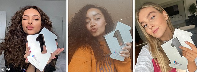 Number one!Little Mix were left celebrating on Friday night after their single, Sweet Melody, made number one in the Official Singles Chart