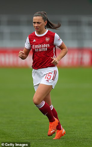Arsenal's Katie McCabe also made the trip for 'business reasons'