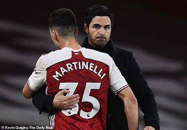 The 19-year-old's return from injurycoincided with an upturn in form for Mikel Arteta's team