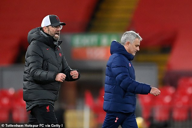 Jurgen Klopp's Liverpool (left) have given Marine scouting tips for their FA Cup tie with Spurs