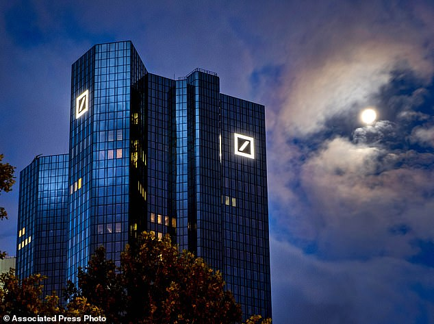 Deutsche Bank AG will not do any further business with Trump or his company, although Trump still owes the German lender more than $300 million in loans. Pictured theheadquarters of Deutsche Bank in Frankfurt, Germany