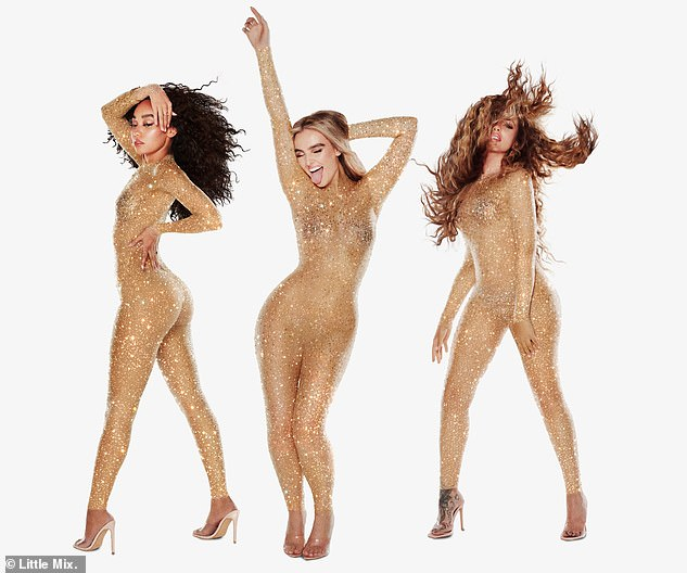 Wowsers!Leigh-Anne's exciting news comes after Little Mix celebrated their first number one single since Jesy Nelson left the band (Leigh-Anne Pinnock, Perrie Edwards and Jade Thirlwall L-R)