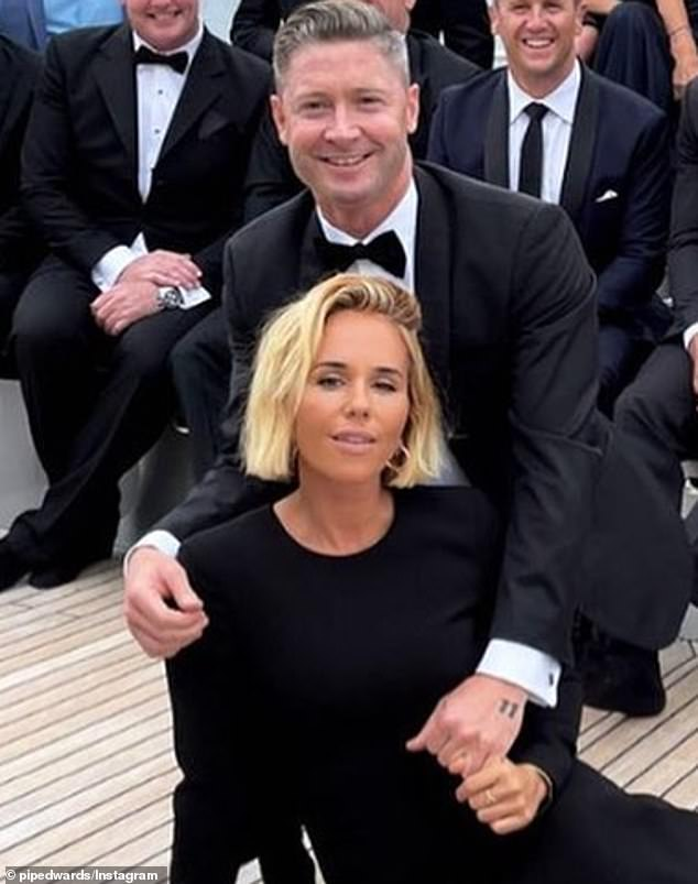 Moving on: Former Australian cricket captain Michael Clarke recently moved in to a stunning Bondi 'bachelor pad' following his split from with Kyly Clarke. Pictured with girlfriend Pip Edwards