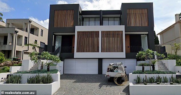 Modern: The home appears to be the couple's first big purchase together since their relationship was exposed in late 2017. Nathan shares two daughters with his ex-partner, Mel Waring