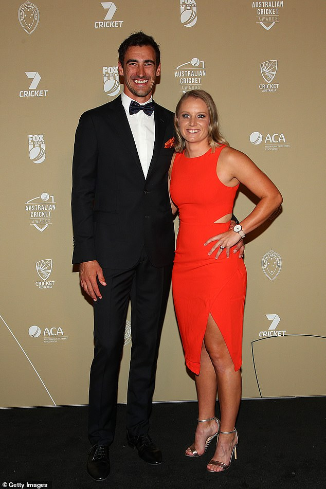Cricket's power couple: Fast bowler Mitchell Starc and his batswoman wife Alyssa Healy are also property moguls. The couple own five properties in Sydney's northern beaches enclave worth more than $10million all together