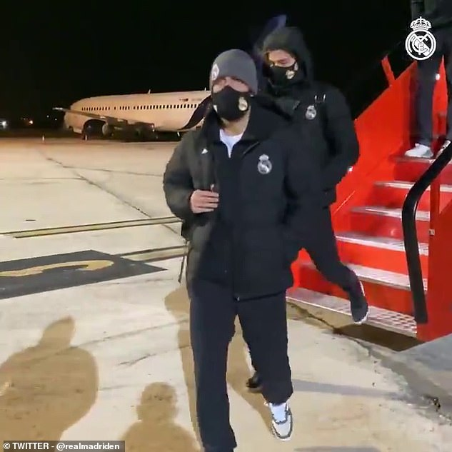 Real Madrid stars finally arrived in Pamplona after Storm Filomena saw them trapped in plane