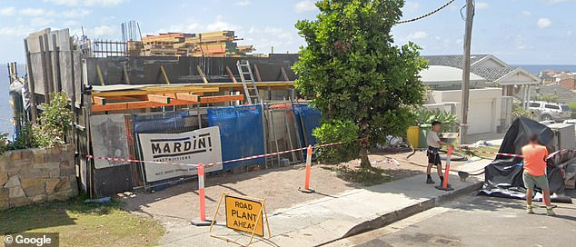 In construction: Currently, the 34-year-old and his former ironwoman wife Candice, 35, are building a five-storey property in Sydney beachside suburb of Maroubra