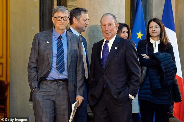 Gates and Michael Bloomberg in 2017 for the One Planet Summit. A 2019 study by Lund University in Sweden found that Gates had the biggest carbon footprint of a group of 10 celebrities known to frequent private jets
