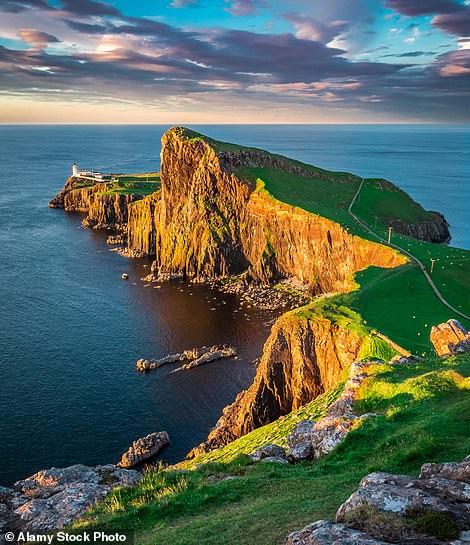 Dramatic scenery: Neist Point lighthouse on Skye