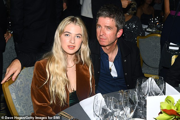 Famous father: Anais recently admitted fans are disappointed when they hear her speak as they expect her to have a northern twang like her father Noel, 53 (pictured in October 2019)