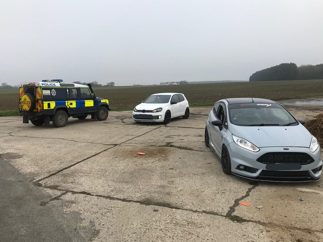 In Essex, police said: 'Please note that driving to a remote location some 15 miles away from your House with garden to meet your mates & take photos of your car is not in the list of reasons to leave your house'