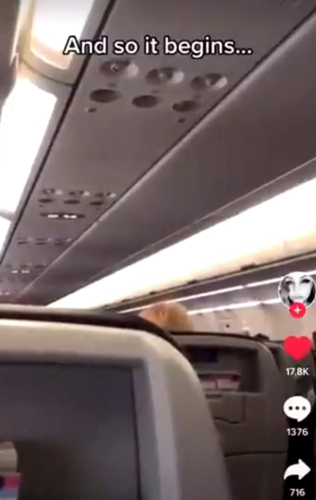 Video posted to Twitter shows the passengers in the cabin chanting ¿USA! USA!¿ At one point, the pilot becomes fed up and tells the passengers on the loudspeaker: ¿This is the way it's gonna be¿ it's a four and a half hour flight to Phoenix. ¿We'll put this plane down in the middle of Kansas and dump people off - I don't care'