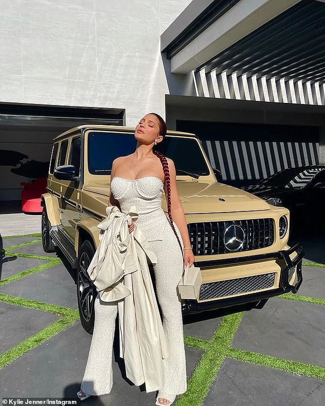Decked out: The Kylie Cosmetics founder spared no expense on the last day as she came ready in full glam and wore an exaggerated braid that came past her waist