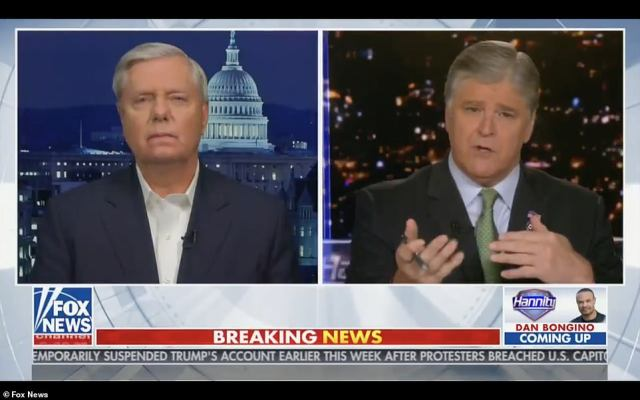 Graham pleaded with Joe Biden to call Nancy Pelosi, and ask her to end plans to impeach the president for a second time