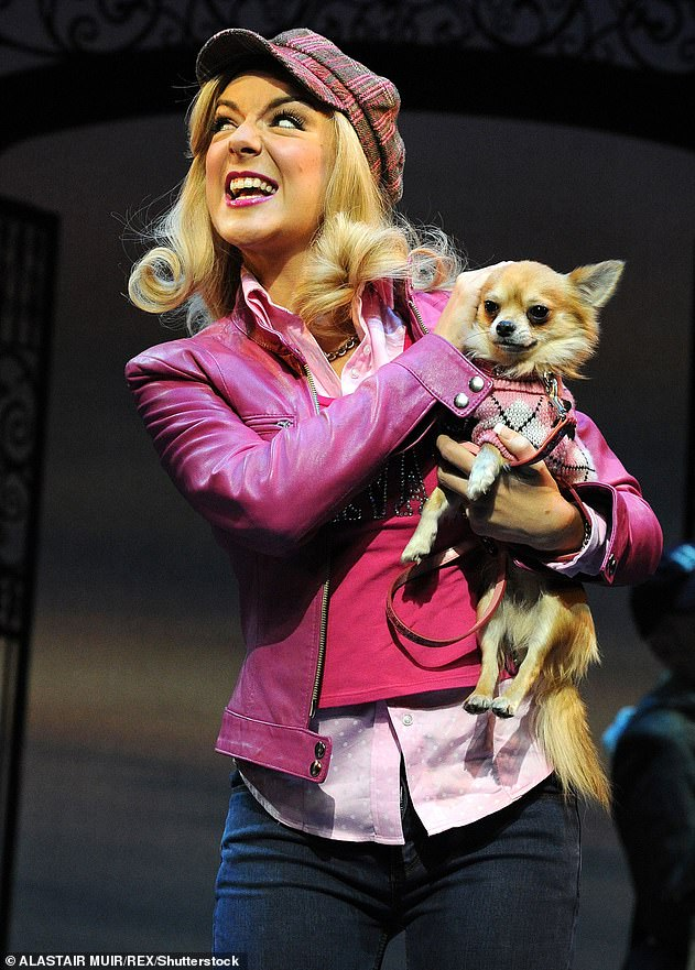 Unbelievable: He said: 'One of the clues made me 100% sure, if, for example, that person's hair color was blonde it would be Legally Blonde ... Sheridan Smith performed on stage in Legally Blonde's West End, it's Sheridan Smith, 100% bet.  (pictured on stage in 2010)