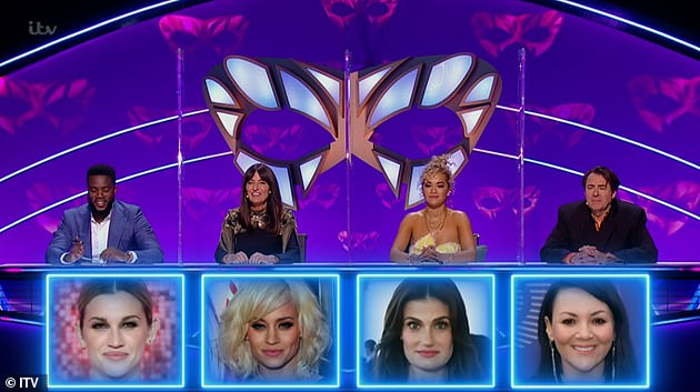 False!  Fellow Judges Davina McCall, Mo Gilligan and Rita Ora got their answers wrong after guessing Kimberly Wyatt, Ashley Roberts and Idina Menzel as the swan - respectively