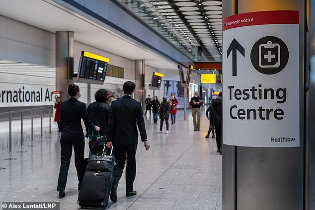 Rapid private tests can be bought online for as little as £ 30, while 'standard' PCR swab tests range from around £ 80 to £ 300 for same-day results.  Pictured: London Heathrow Airport