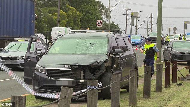 A grey Kia Carnival allegedly veered off the Hume Highway and mounted the kerb before hitting two boys, Adam Ghoz passed away while the other boy luckily was unharmed