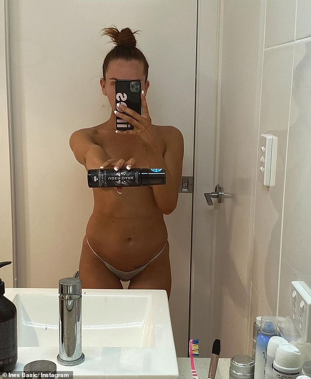 Married At First Sight's Ines Basic poses TOPLESS in a raunchy mirror selfie