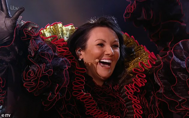 She's there!  Martine McCutcheon became the latest celebrity to be unmasked on Saturday's episode of The Masked Singer 2021